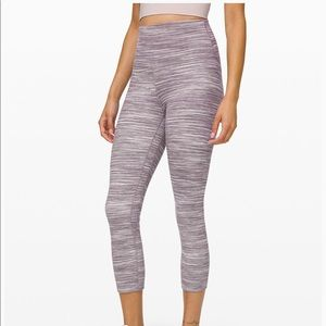 Lululemon Grey/Blue multi crop leggings